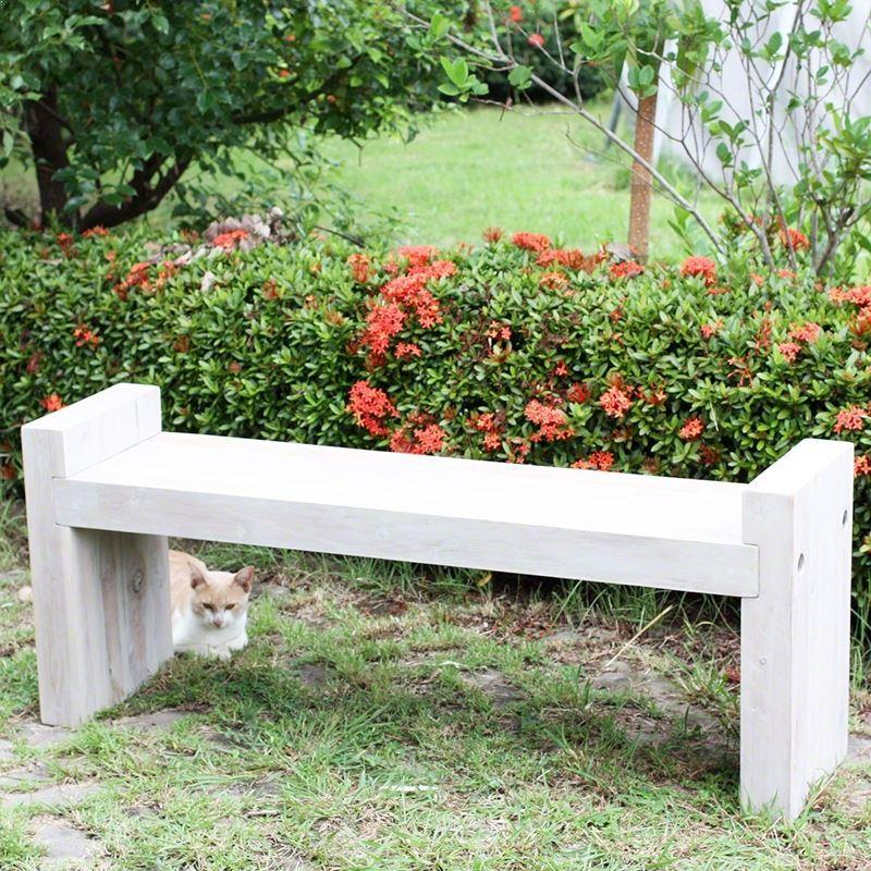 "Haussmann Teak Block Bench 48"" KD Agate Grey Oil"