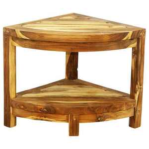 "Haussmann Teak Corner Table 16"" H Teak Oil"