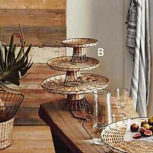 Roost Rattan & Iron Pedestals - Set Of 3