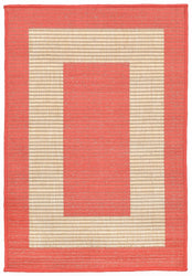 Terrace Border Coral Indoor/Outdoor Rug