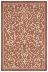 Terrace Scroll VIne Terracotta Indoor/Outdoor Rug