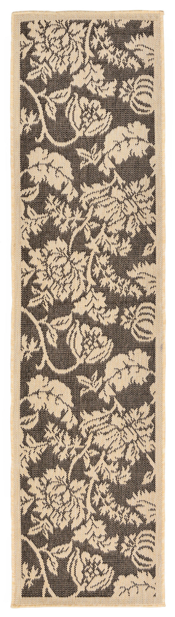 Terrace Floral Charcoal Indoor/Outdoor Rug