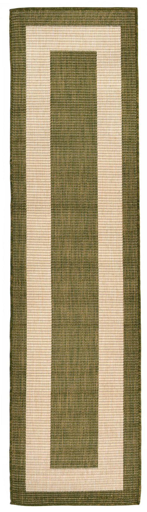 Terrace Border Green Indoor/Outdoor Rug