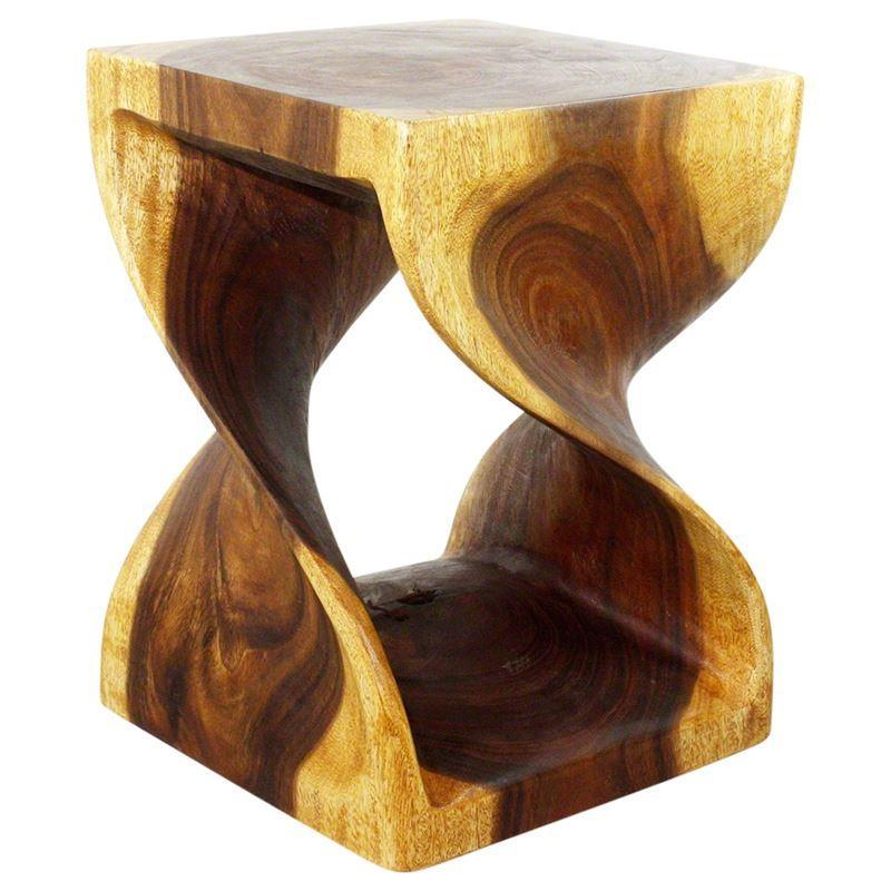 "Haussmann Twist End Table 15"" Sq - Oak"