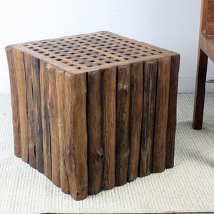 "Haussmann Teak Timber Block Lattice 18"" H - Teak Oil"
