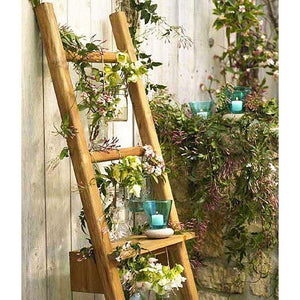 Haussmann Teak Towel Ladder Adjustable Shelf Teak Oil