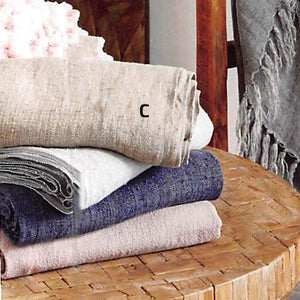 Roost Washed Linen Multi Color Throws