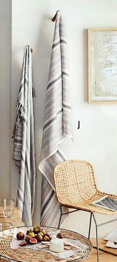 Roost Akha Striped Collection Throws