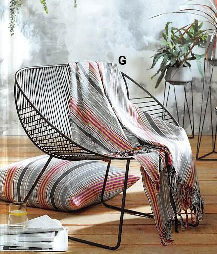 Roost Akha Striped Throw Multi