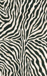 Visions I Zebra Black Indoor/Outdoor Rug