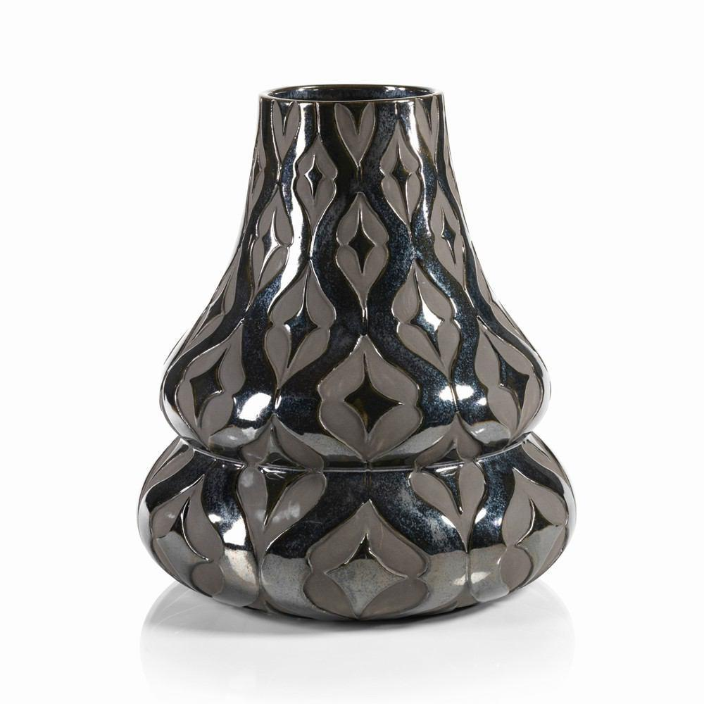 Zodax 14-Inch Tall Marrakech Earthenware Vase