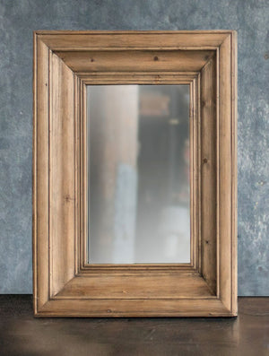 Vagabond Vintage Rectangle Solid Pine Wood Frame Mirror