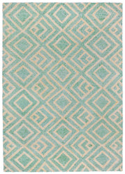 Wooster Kuba Aqua Indoor/Outdoor Rug