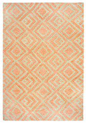 Wooster Kuba Orange Indoor/Outdoor Rug