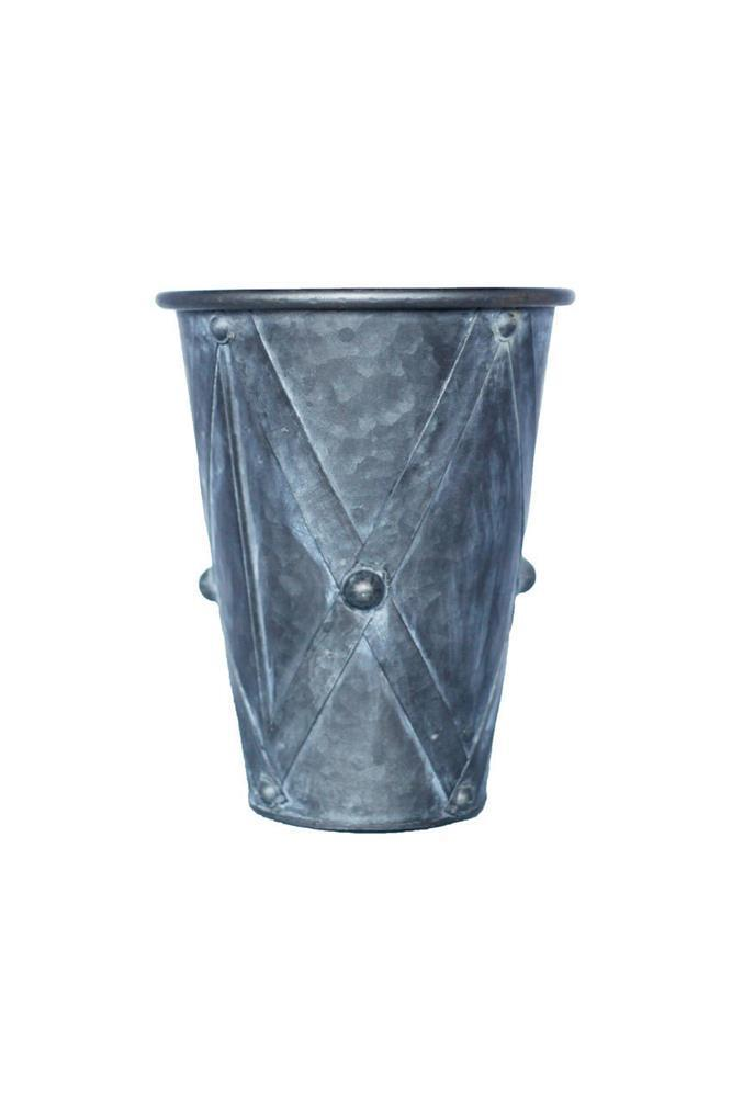 Vagabond Vintage Zinc Drum Planters - Set of 3