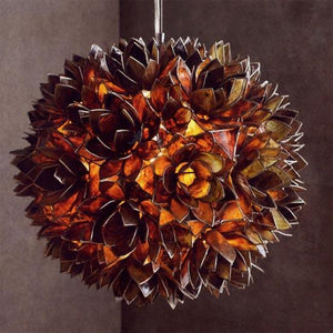Roost Lotus Flower Chandeliers - Smoke