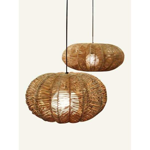 Regency Seagrass Pendant Lamp - Large
