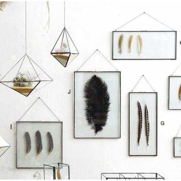 Roost Iron Edged Hanging Frames - including Feathers