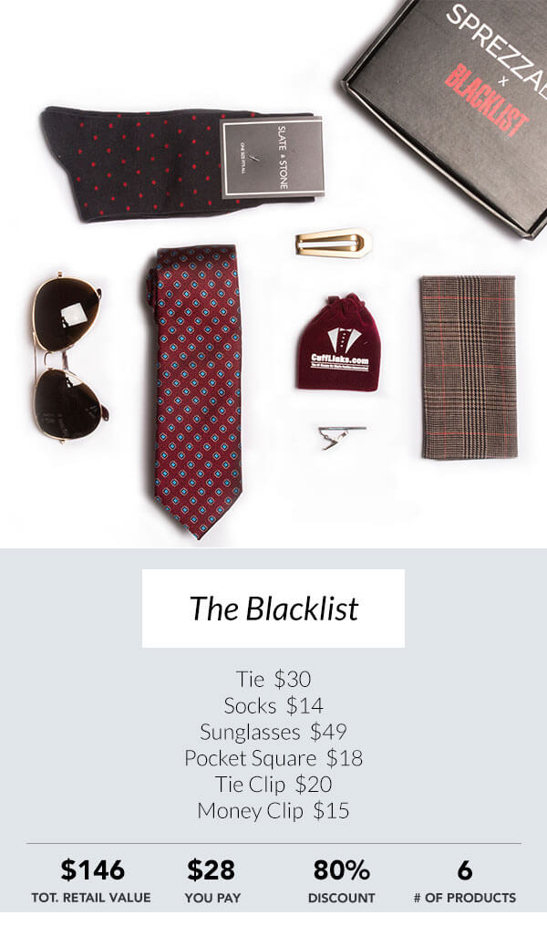 The Blacklist Sprezzabox men's subscription box