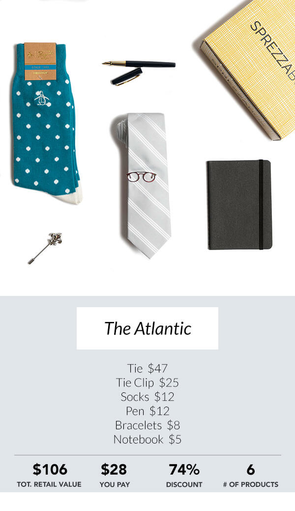 The Atlantic Sprezzabox men's subscription box
