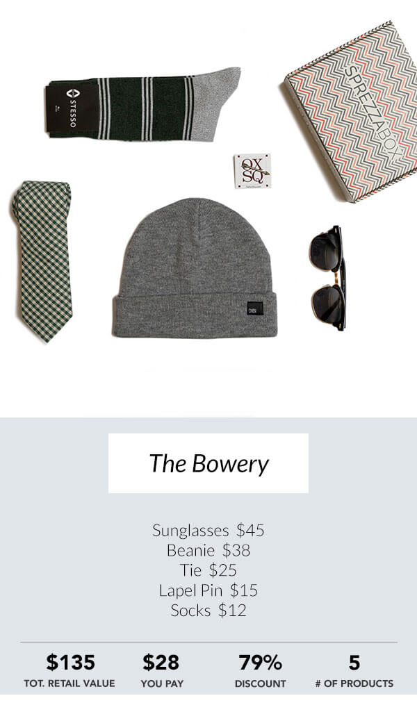 The Bowery Sprezzabox men's subscription box