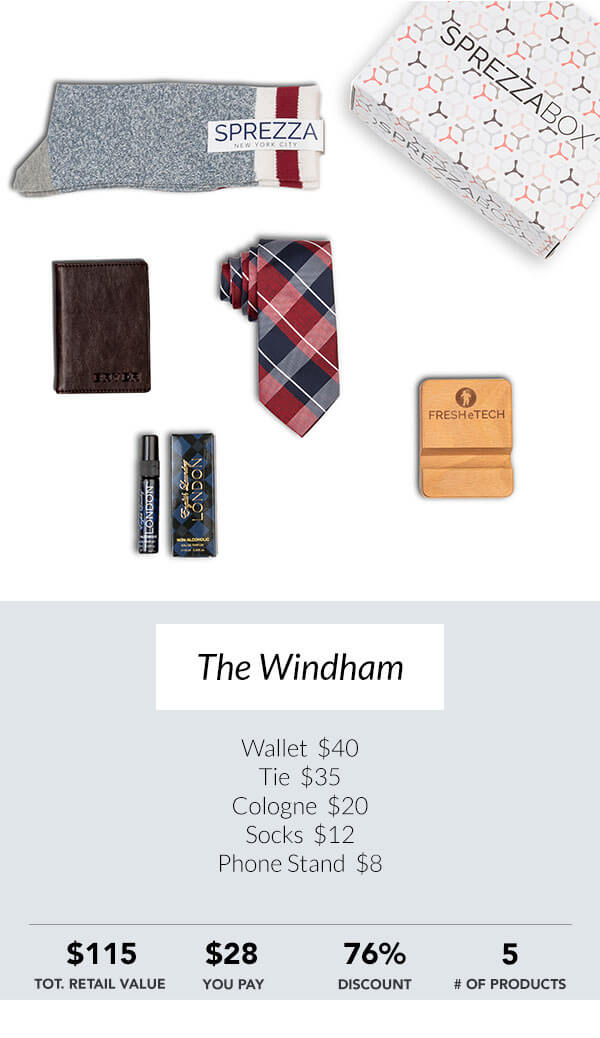 The Windham Sprezzabox men's subscription box