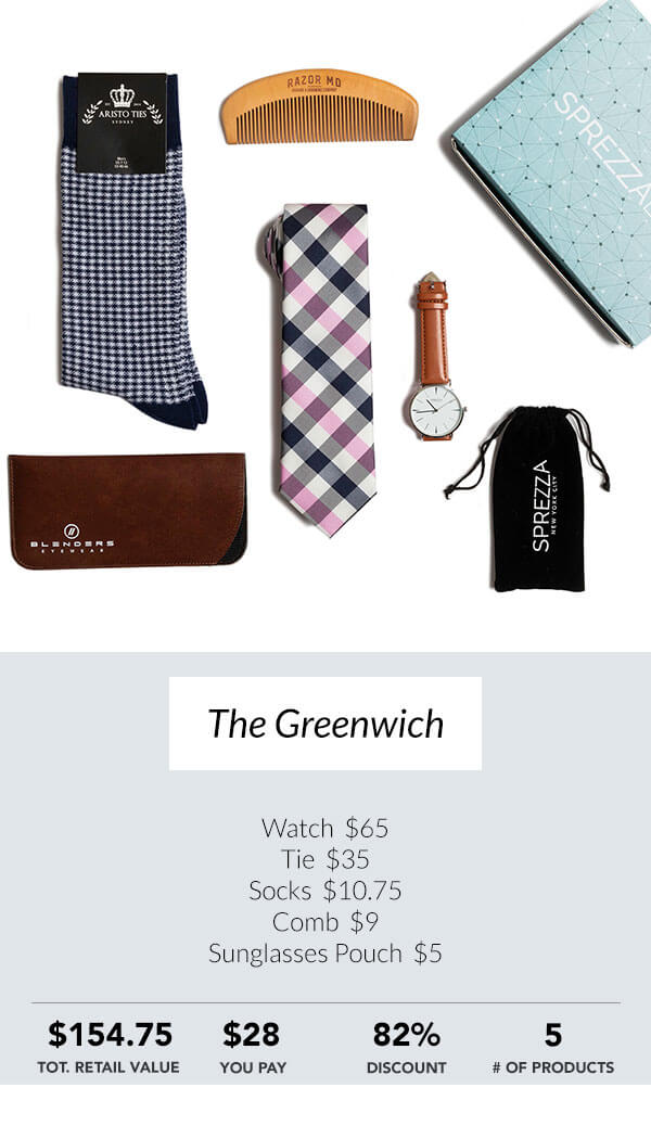 The Greenwich Sprezzabox men's subscription box