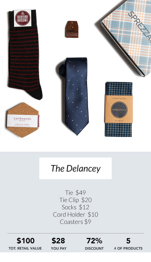 The Delancey Sprezzabox men's subscription box