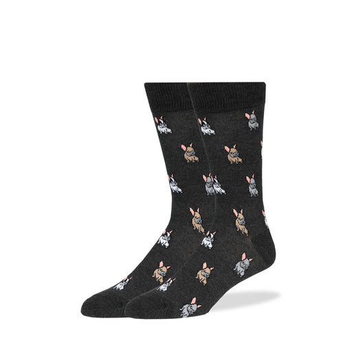 Gray French Bulldogs Socks