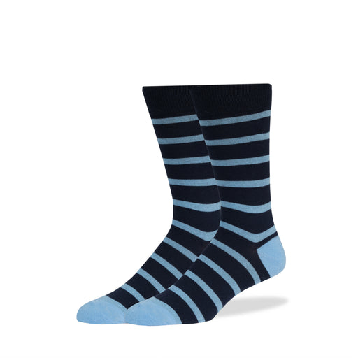 Navy & Light Blue Stripe Socks