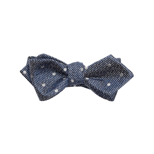Bow Ties - Blue Dot Silk Bow Tie (Self-tie) (Brooklyn)