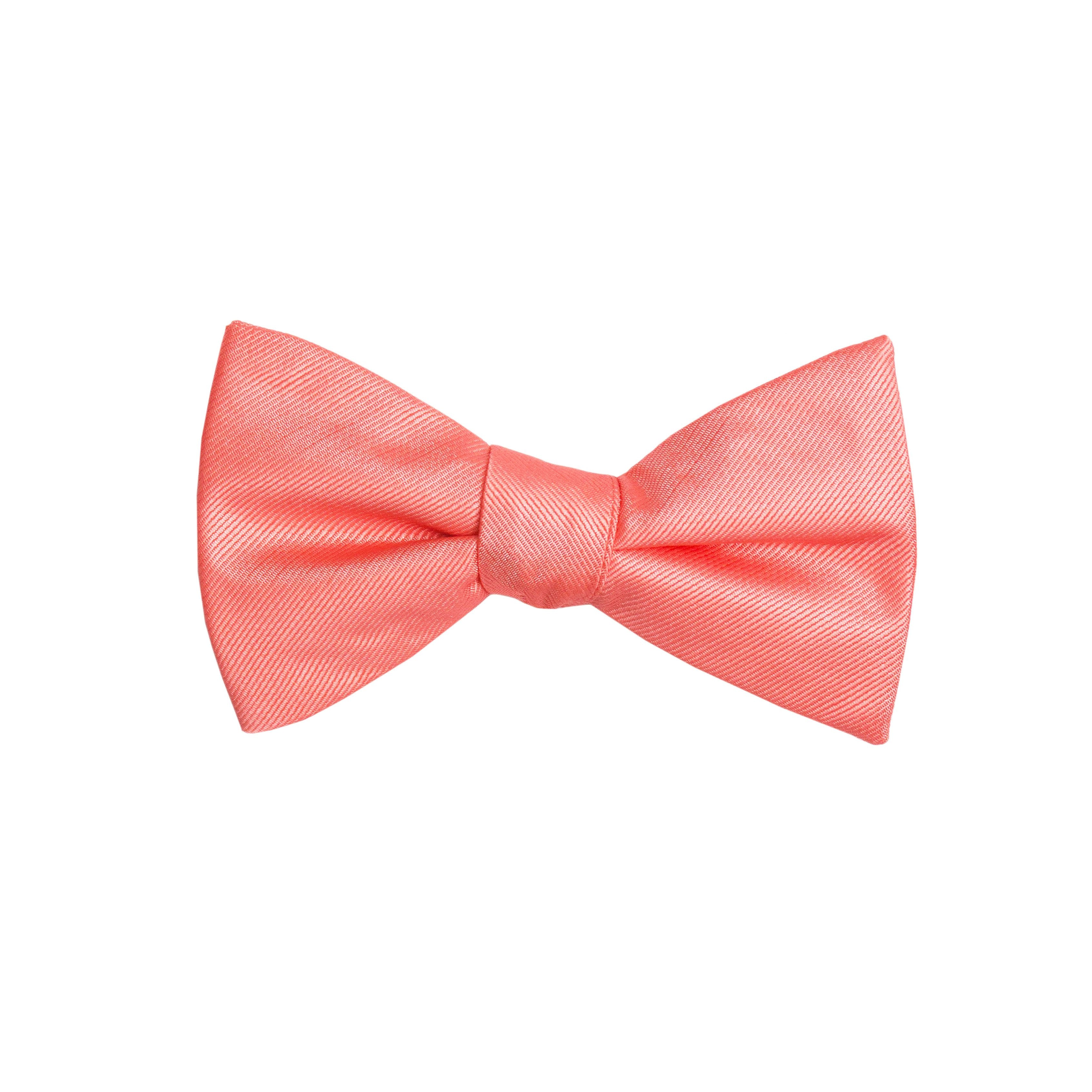 Solid Coral Bow Tie (Pre-tied) (Wall Street)