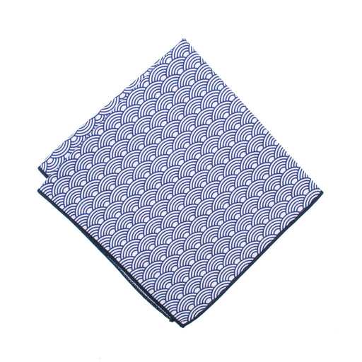 Pocket Square - Navy Scallop Pocket Square