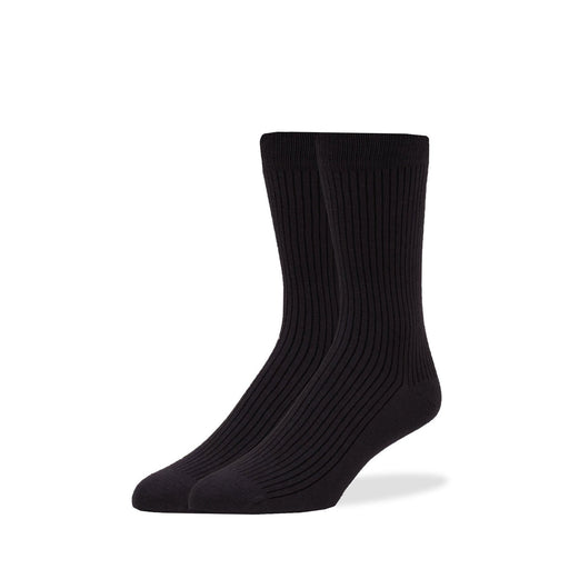 Socks - Black Solid Rib Socks