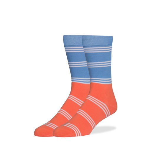 Socks - Blue & Orange Color Block Socks