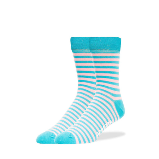 Socks - Blue & Pink Thin Stripe Socks