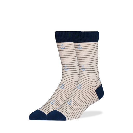 Socks - Blue Stripe Anchor Socks