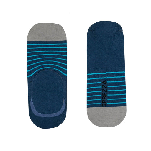 Socks - Blue & Teal Stripe No-Show Socks