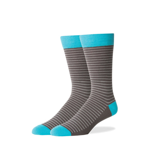 Socks - Charcoal Thin Stripe Socks