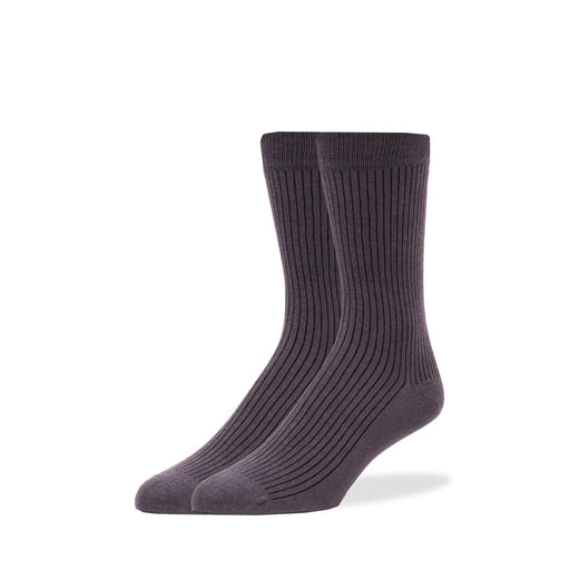 Socks - Dark Gray Solid Rib Socks