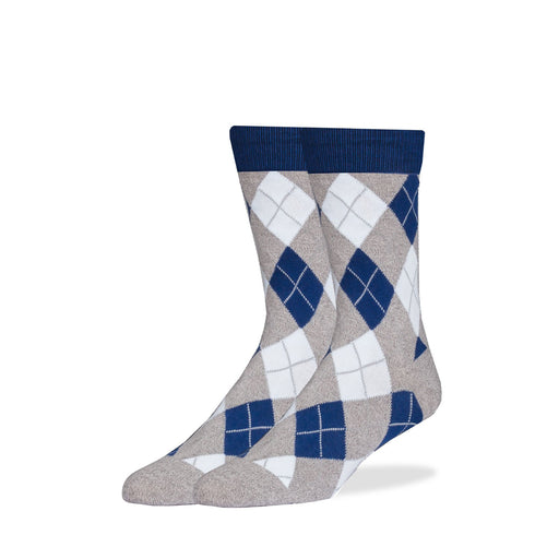 Socks - Gray & Blue Argyle Socks
