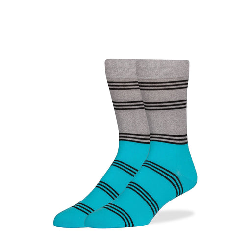 Socks - Gray & Bright Blue Color Block Socks