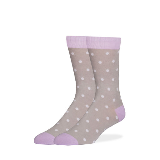 Socks - Gray & Lavender Dot Socks