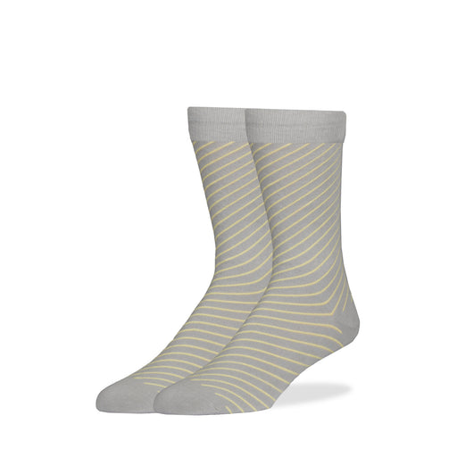 Gray & Yellow Diagonal Stripe Socks