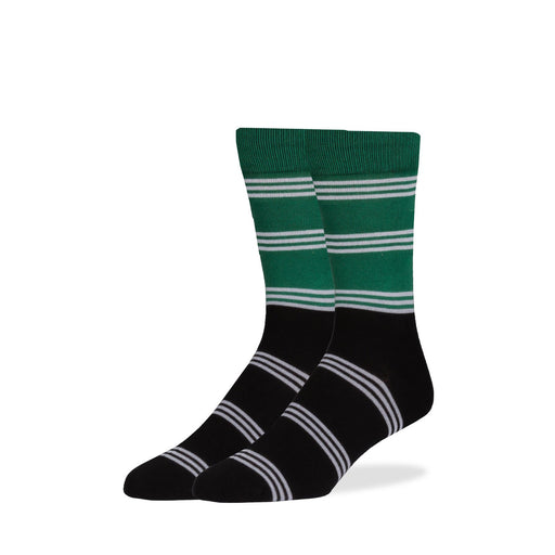 Socks - Green & Black Color Block Socks