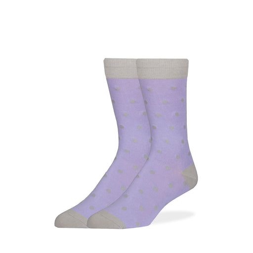 Socks - Lavender & Gray Dot Socks