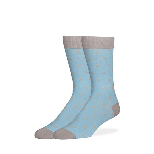 Socks - Light Blue & Gray Dot Socks