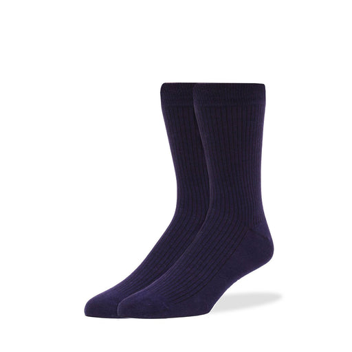Socks - Navy Solid Rib Socks
