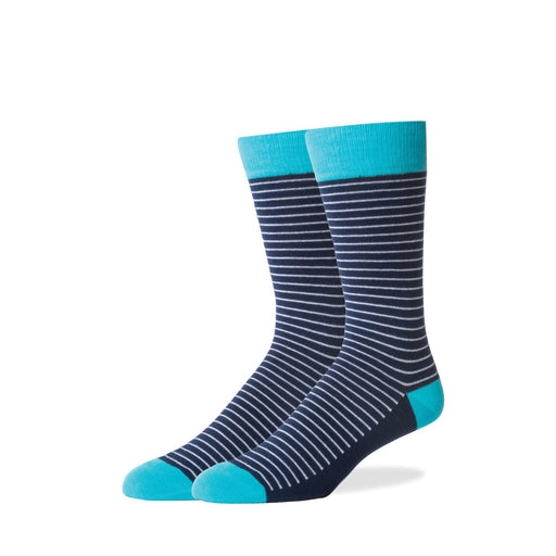 Socks - Navy Thin Stripe Socks