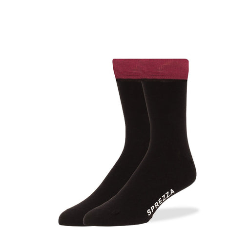 Socks - Solid Black With Red Trim Socks